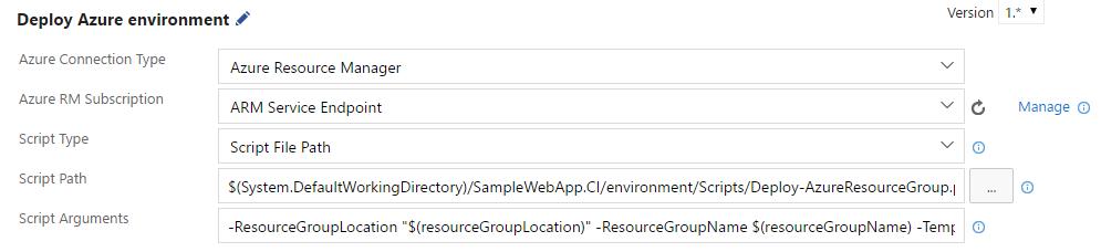 Deploying ARM Templates using Visual Studio Team Services